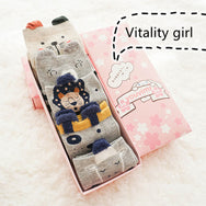 Cute animal tube socks gift box (5 pairs) YV43600