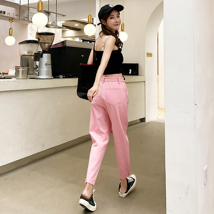 Fashion pink casual pants yv43234