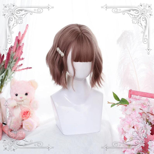 lolita style short curly gradient wig yv43176