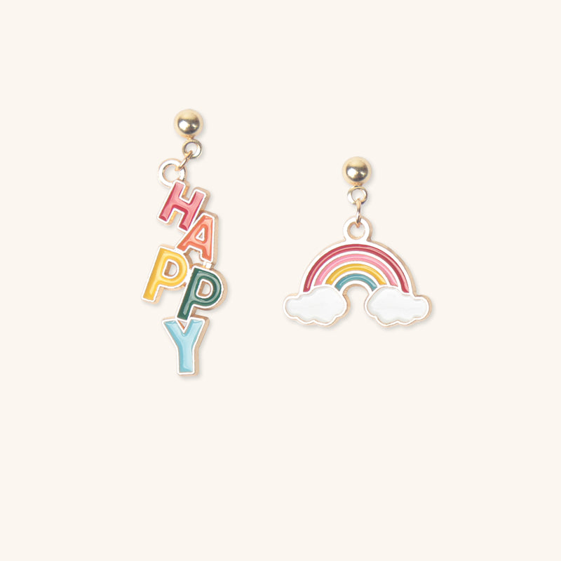 Japanese rainbow color earrings yv43265