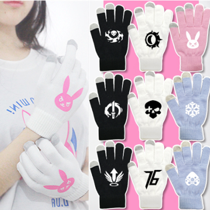 Cutekawaii  cartoon D.VA gloves YV5067