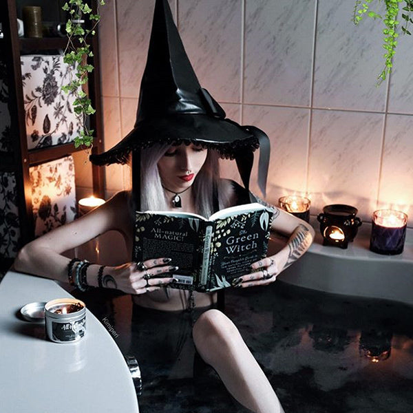 Review for Lolita halloween cos witch hat yv40638