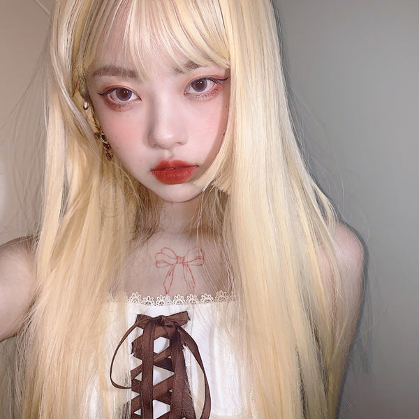 Harajuku Fashion Daily Long Wig yv43413
