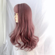 Fashion light purple curly wig yv43422