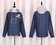 Harajuku cute little animal embroidery hooded cowboy jacket YV1507
