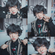 Handsome short curly wig YV43004