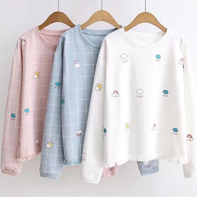 Cute cloud rainbow sun tassels  Sweater YV521