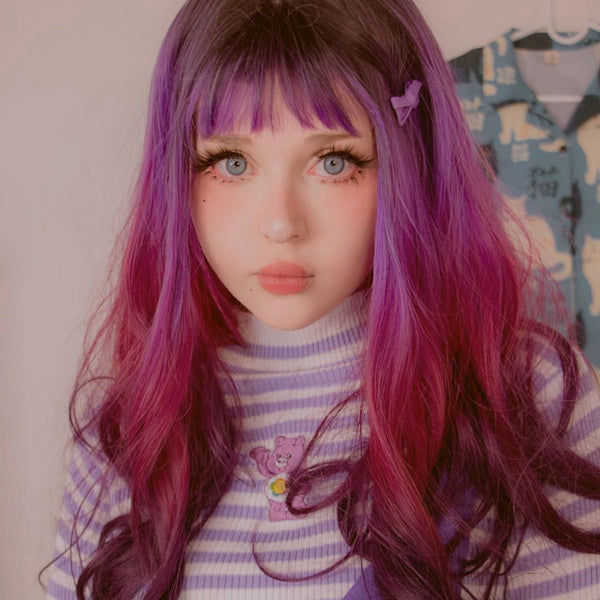 Review For Long Roll Gradient Wig Yv42222