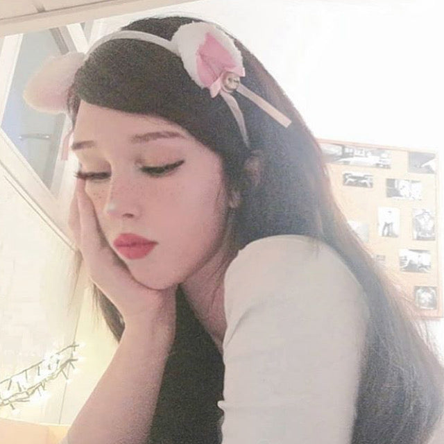 Cute cat ears headband hair clip set yv42261