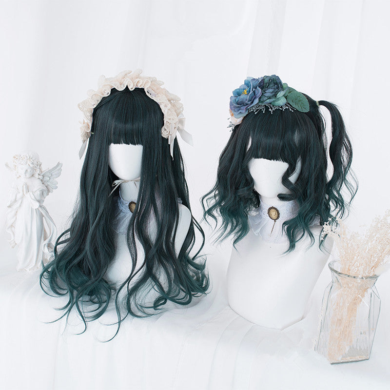 lolita dark green gradient wig YV43001