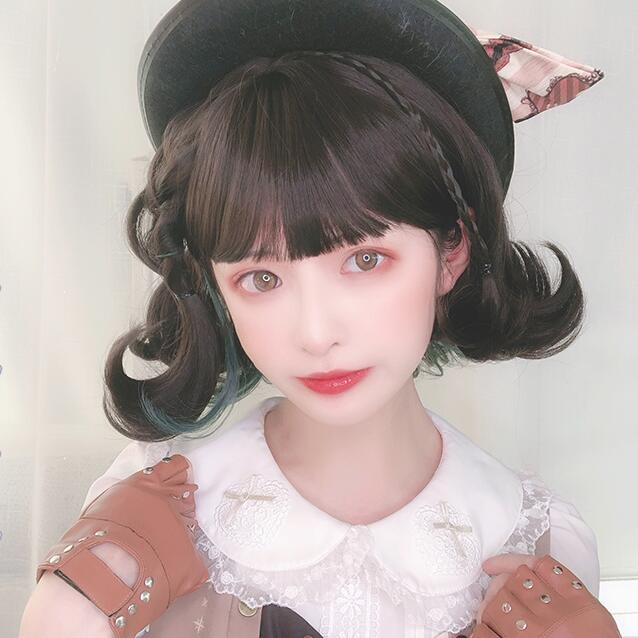 lolita cute short curly wig YV43060