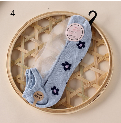 Japanese  lace cotton  socks YV211