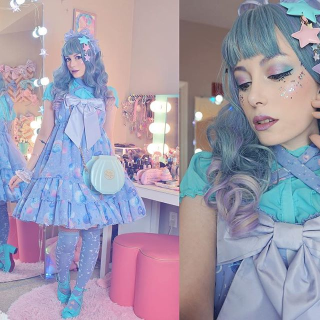 REVIEW FOR HARAJUKU LOLITA GRADIENT LONG ROLL WIG YV40780