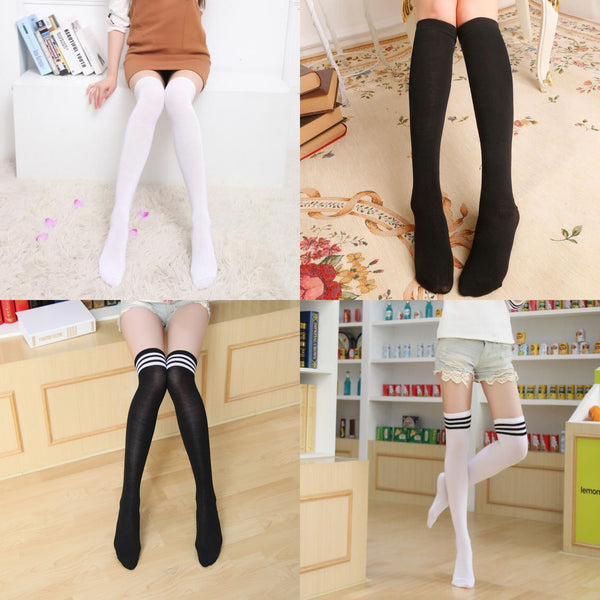 Japanese style student striped socks yv43077