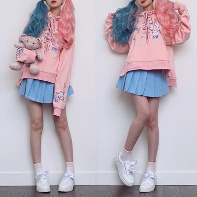 REVIEW FOR HARAJUKU FORK LACE EMBROIDERED FLOWERS HOODIES YV16055
