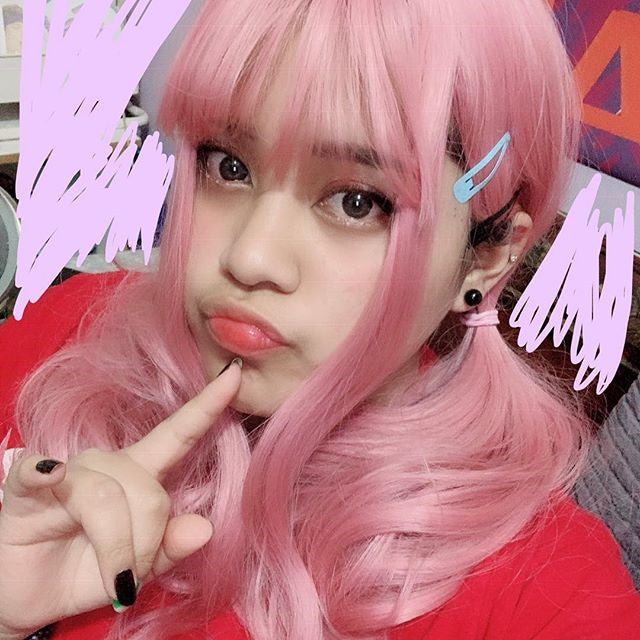 REVIEW FOR PINK LONG ROLL FLUFFY LOLITA WIG YV40774