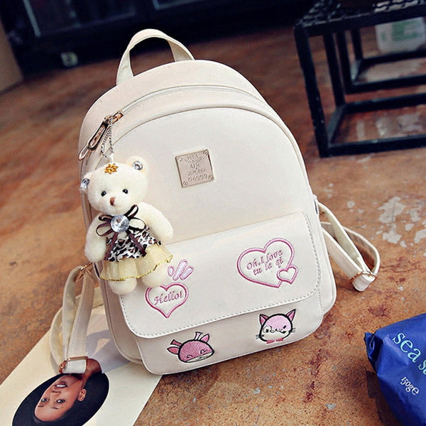 Cartoon bear student bag backpack YV295