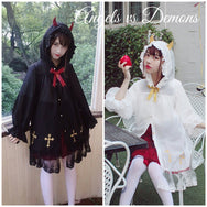Devil angel gothic Harajuku cardigan long coat YV2237