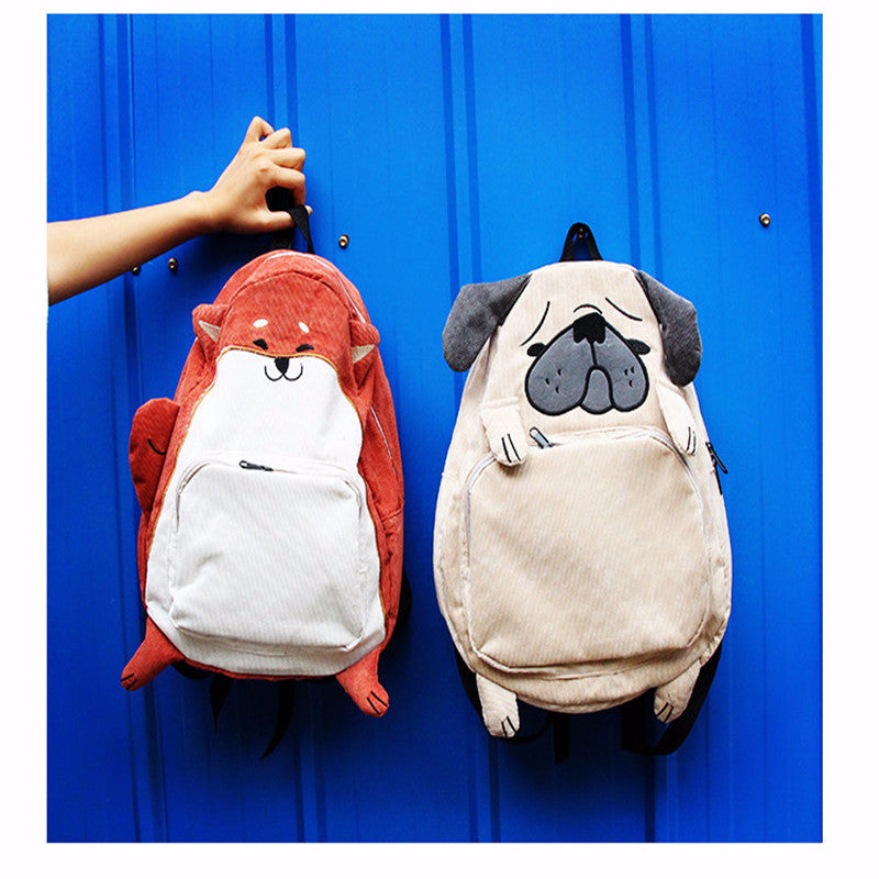 Korea cute dog and squirrels backpack YV123