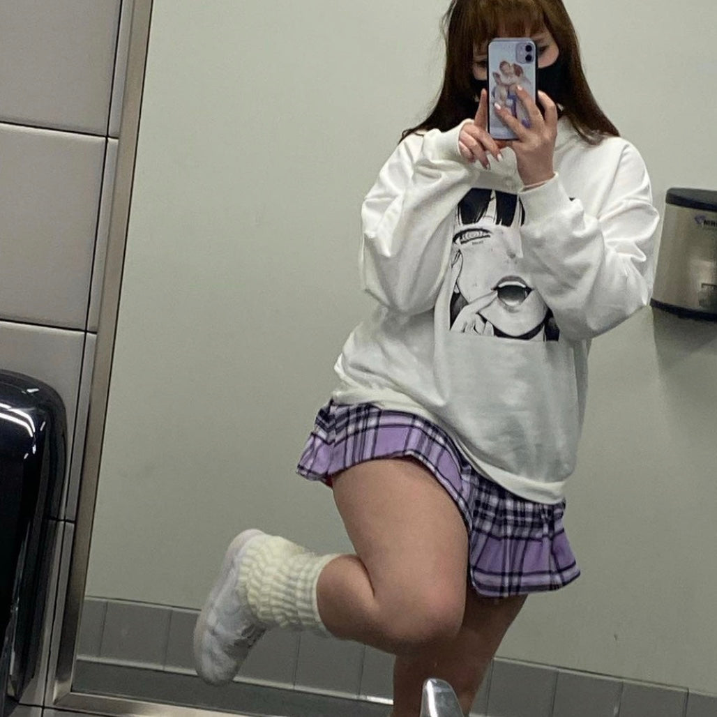 Review for Harajuku cartoon print sweater yv42687