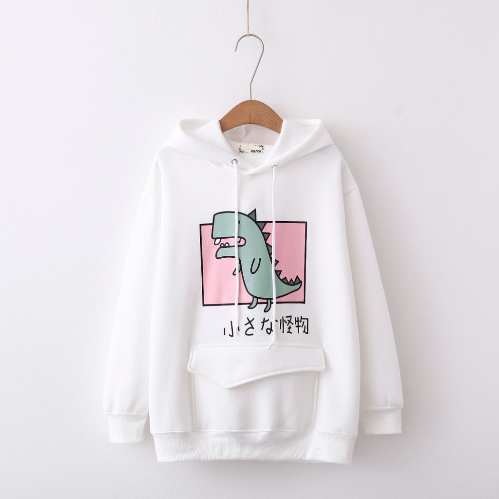 Cute little dinosaur hooded sweater yv40727