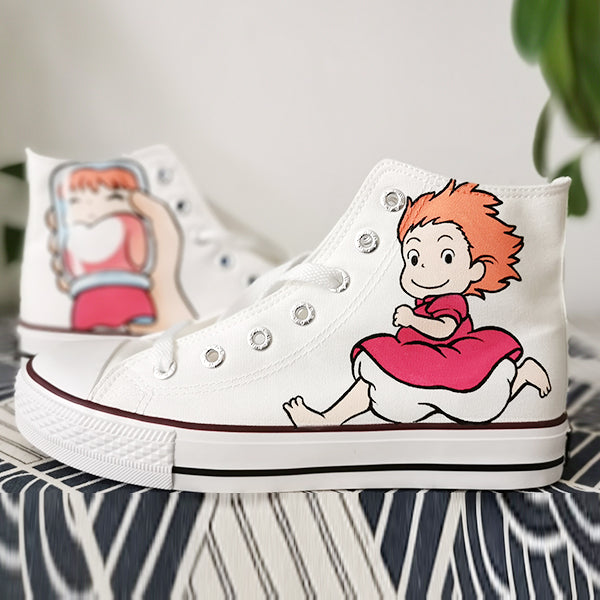 Ponyo on the Cliff hand-painted shoes YV42651