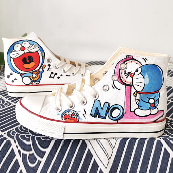 Doraemon Hand-Painted Shoes Yv42653