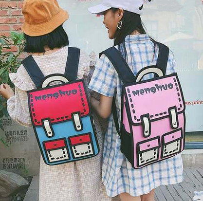 Harajuku 3D School Bags BackpackYV5053