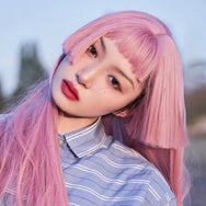 Pink lolita big waves Ji Fa wig YV42739
