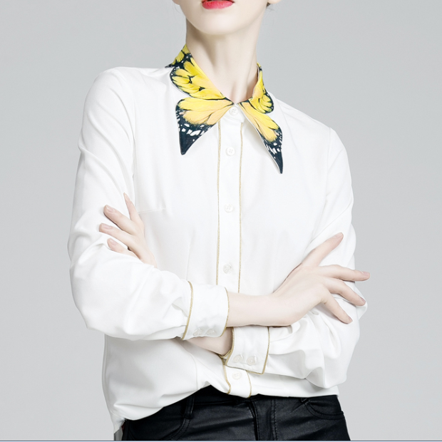 Retro cute Butterfly collar blouse shirt  YV8059