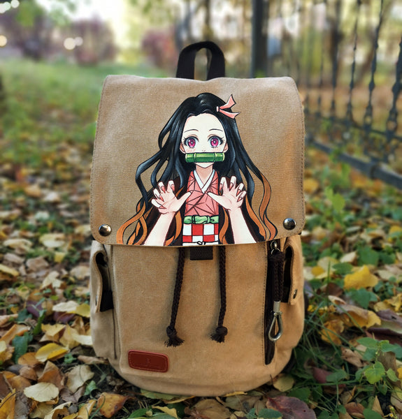 """Demon Slayer Blade"" Nidouzi Hand drawn backpack YV43579"