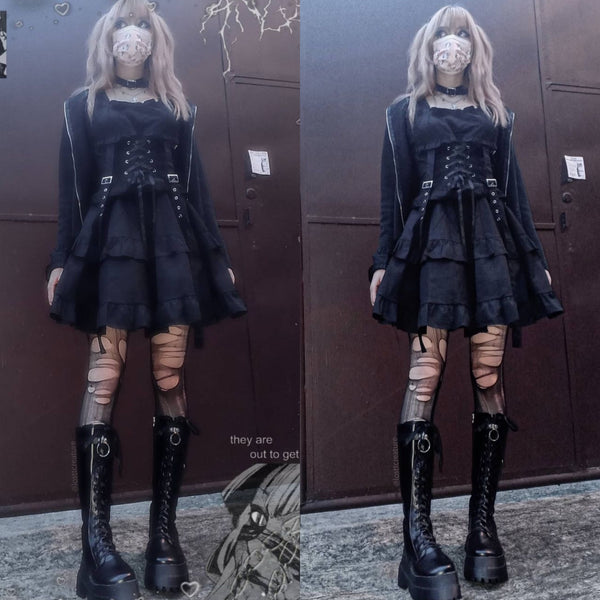 Dark punk handsome dress yv43247