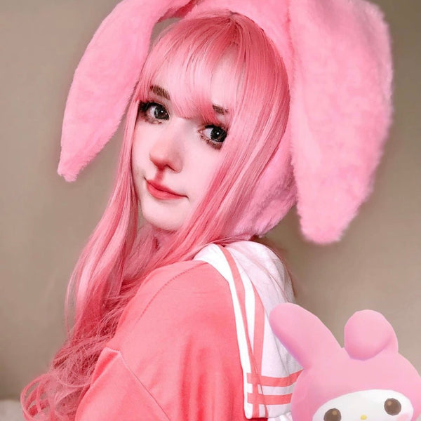 lolita pink cos wig YV42985