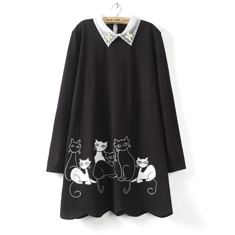 Cat large size dress from YV2238