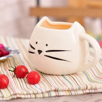 Cute Round Cat Mug YV550