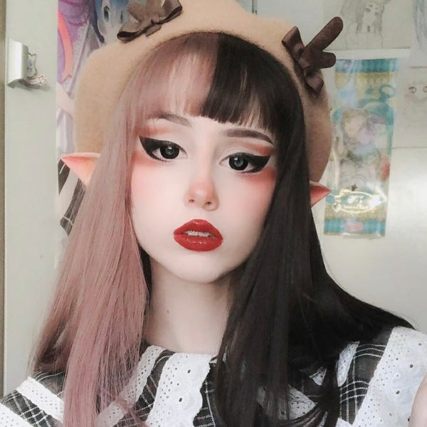 Review for Harajuku lolita mixed color wig yv43317