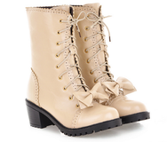 lolita bow women's boots YV5093