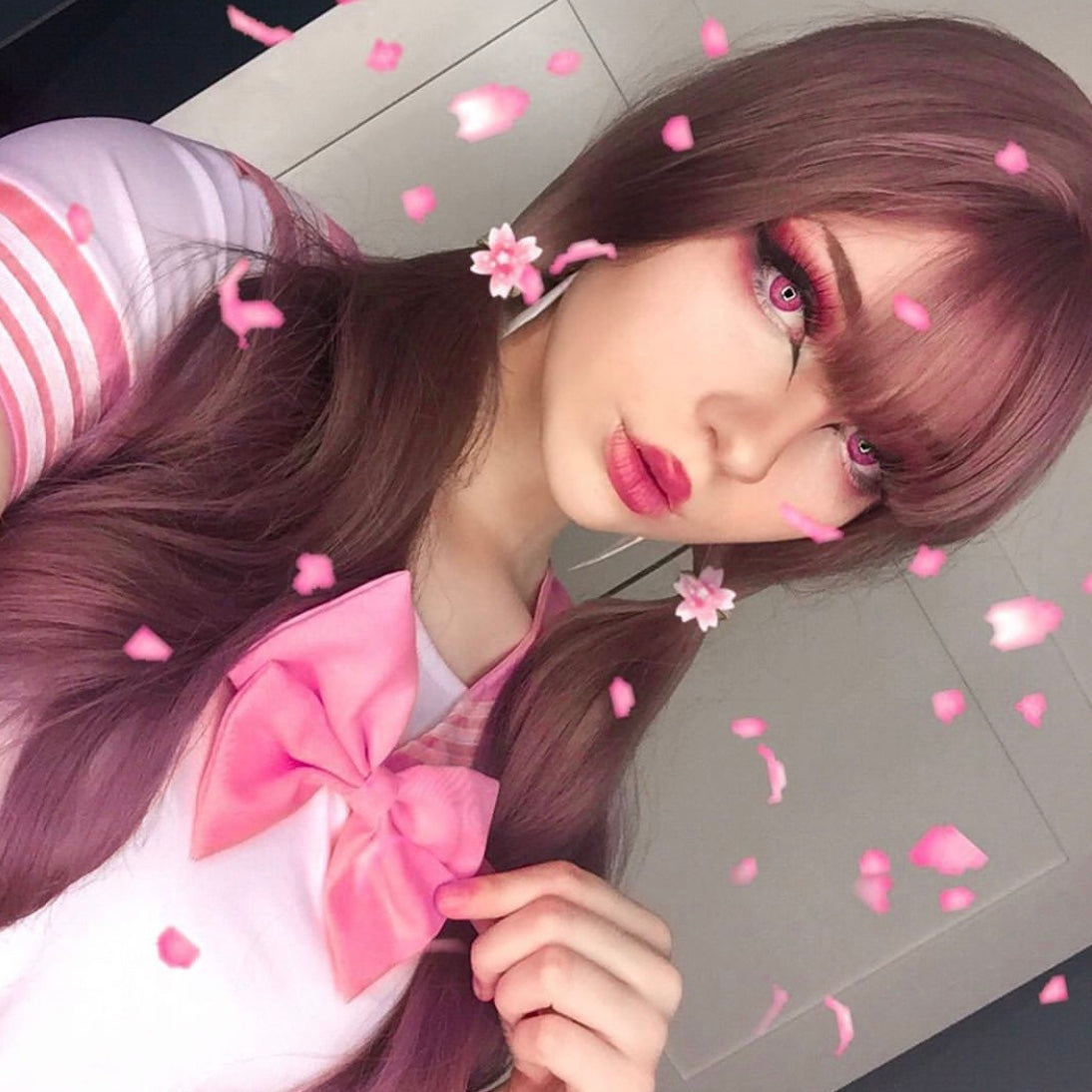 Harajuku Lolita long roll air bangs wig YV40116