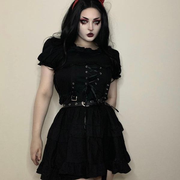 Review for Dark punk handsome dress yv43247