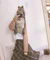 Harajuku Lovely knitting wool knit winter scarf YV5061