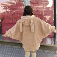 Cute bunny ears plush coat yv42626