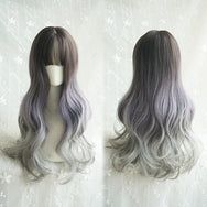 Cos mixed color curly hair wig YV40742