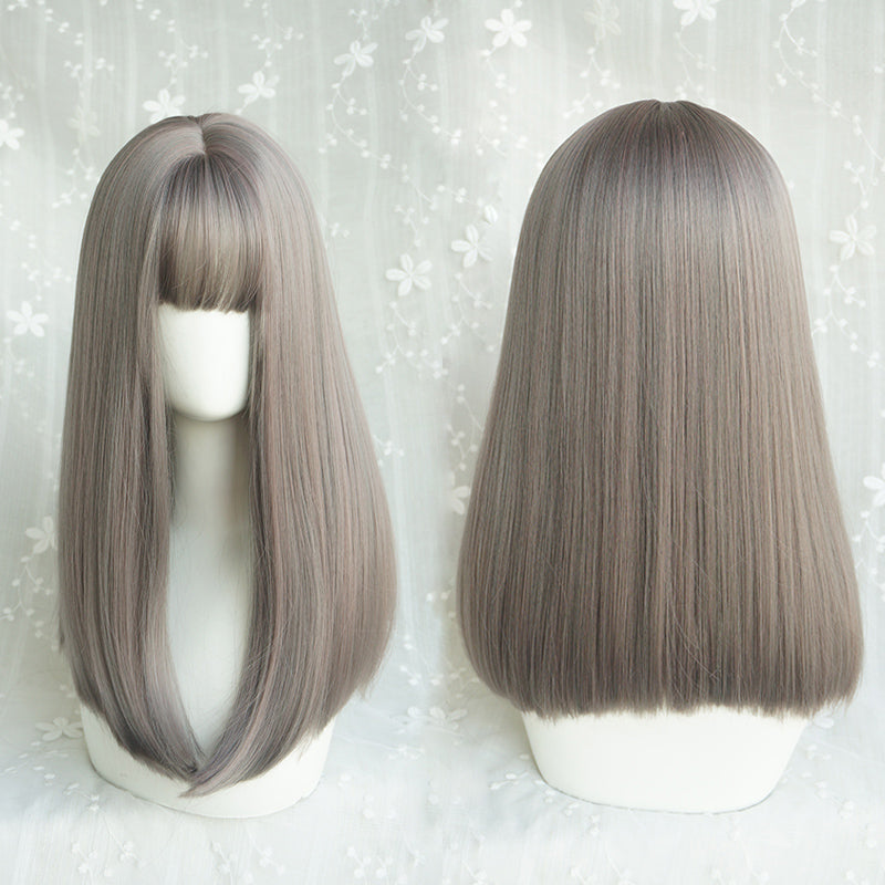 Cute air bangs wig YV40703