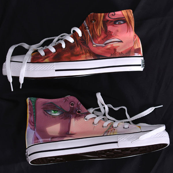 One Piece Doodle Canvas Shoes yv42148
