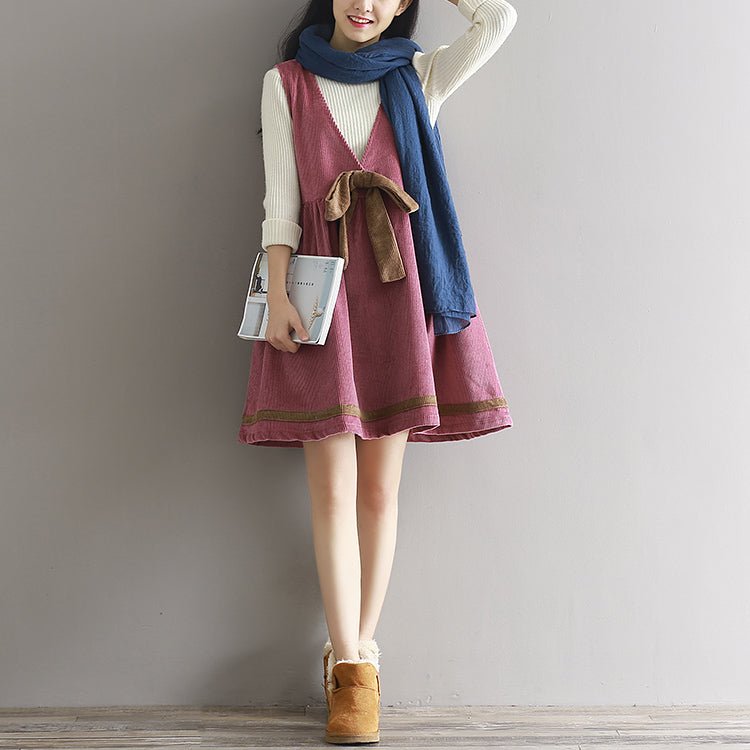 Cute bow vest dress yv42667