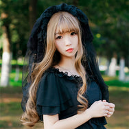 Halloween Lolita Dark Goth Ghost Bride Wedding Veil YV42391