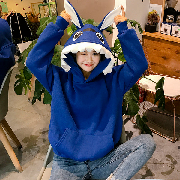 Cute rabbit ears hooded sweater yv40823