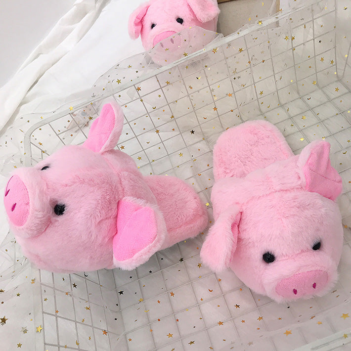 Pink pig warm cotton shoes YV40869