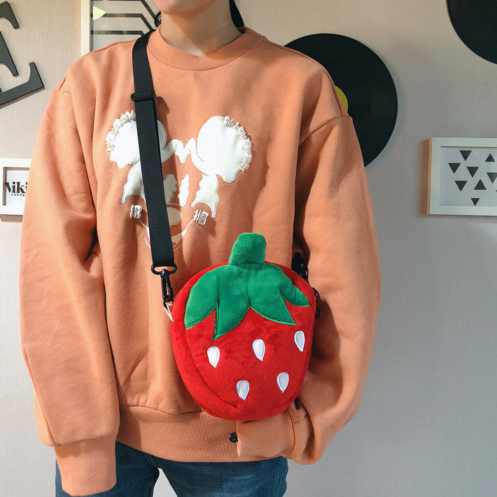 Cute strawberry plush bag YV40870