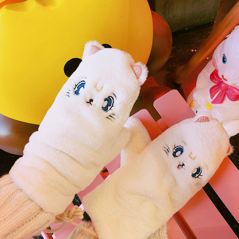 Japanese cute cat warm gloves YV40754